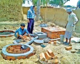 building sulabh toilet
