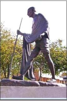 gandhi leicester statue