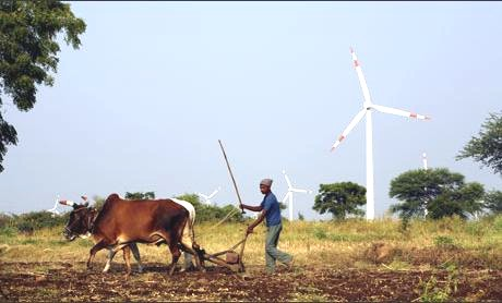 india wind energy alongside trad agric