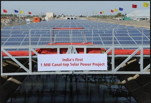 canal top solar india